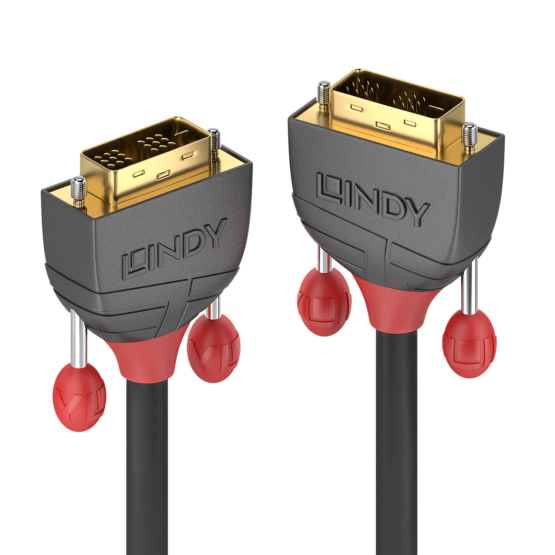 36240 1 555x555 Lindy 10m DVI D SLD Single Link Cable Anthra Line