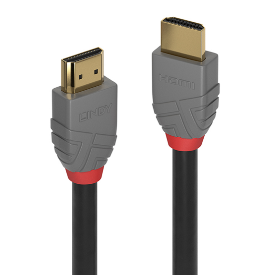 36960 1 555x555 Lindy 0.3m HDMI High Speed HDMI Cable Anthra Line