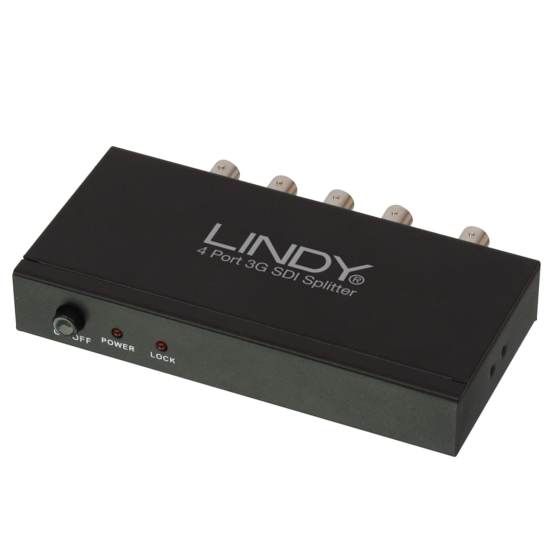 38085 1 555x555 Lindy 3G SDI Splitter 4 Port (1:4)