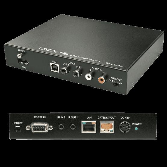 38202 1 555x555 Lindy C6 HDBaseT 2.0 KVM Extender Pro Transmitter , 100m