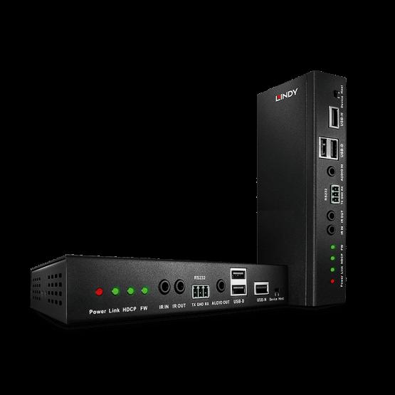 38209 1 555x555 Lindy 100m C6 HDBaseT 2.0 HDMI & USB KVM Extender