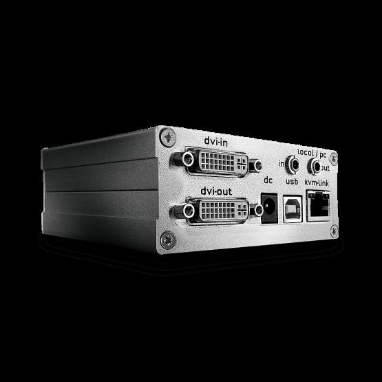 39210 1 555x555 Lindy 130m Cat.6 DVI D Single Link, USB 2.0 and Optional Audio or RS232 KVM Extender, Transmitter