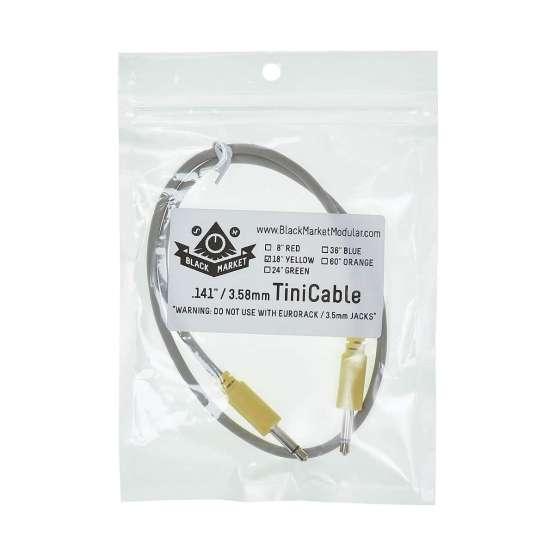 Black Market Modular Buchla tini cable yellow 45cm detail view 555x555 Black Market Modular Buchla 45cm Yellow Tini Cable