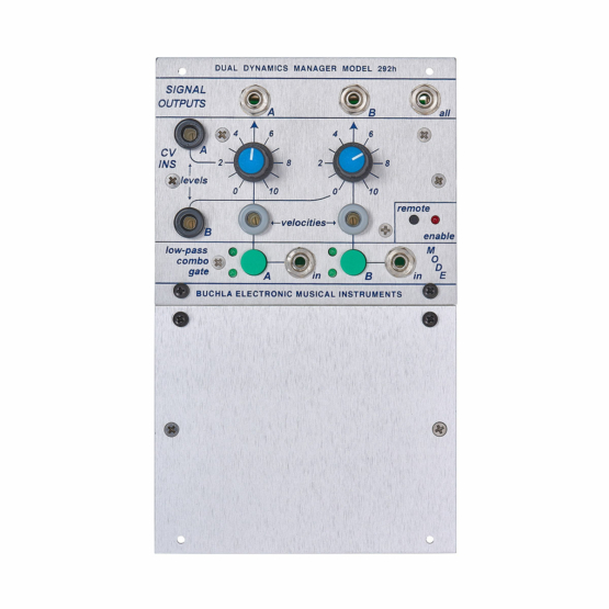 Buchla 292h Dual Lowpass Gate front view 555x555 Buchla 292h Dual Lowpass Gate