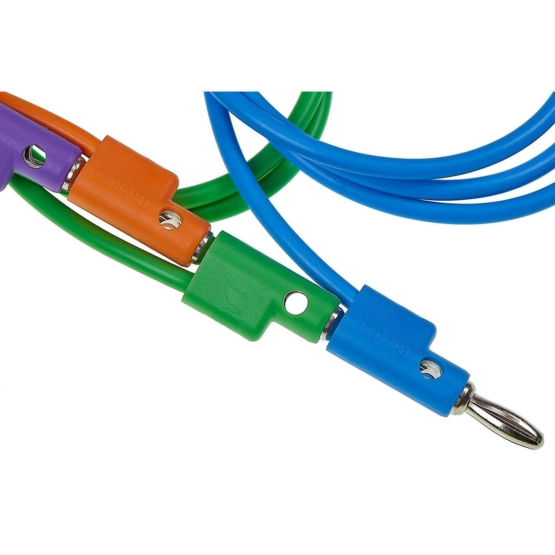 Buchla 75cm Blue Banana Cable plug detail multiple 555x555 Buchla 75cm Banana Cable blue