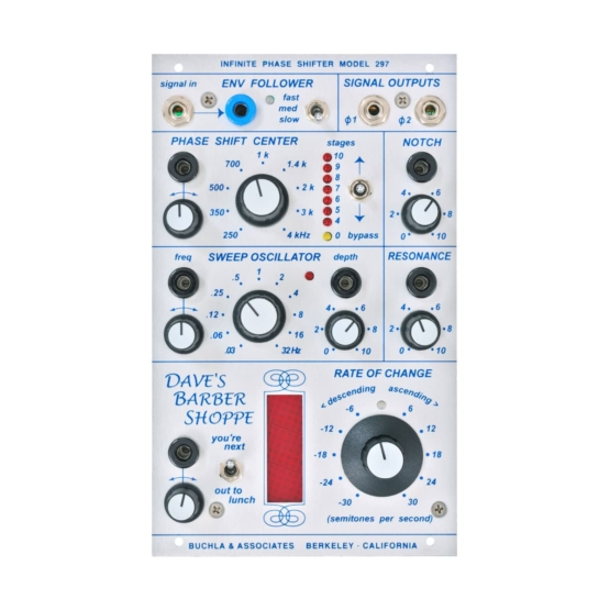 Buchla 297 Infinite Phase Shifter front view 555x555 Buchla 297 Infinite Phase Shifter