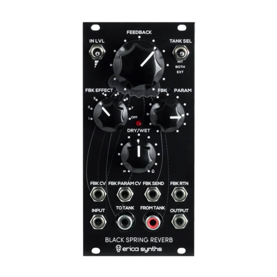Erica Synths Black Spring Reverb 555x555 Erica Synths Black Spring Reverb