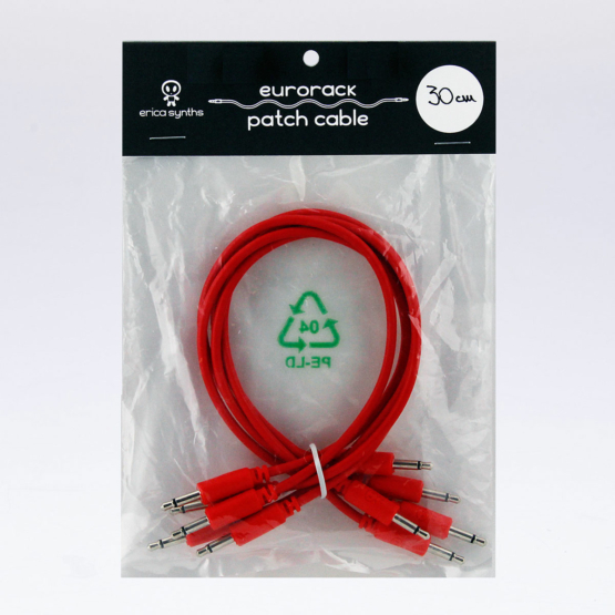 Erica Synths 30cm Cables Red 5pcs 555x555 Erica Synths 30cm Cables Red 5pcs