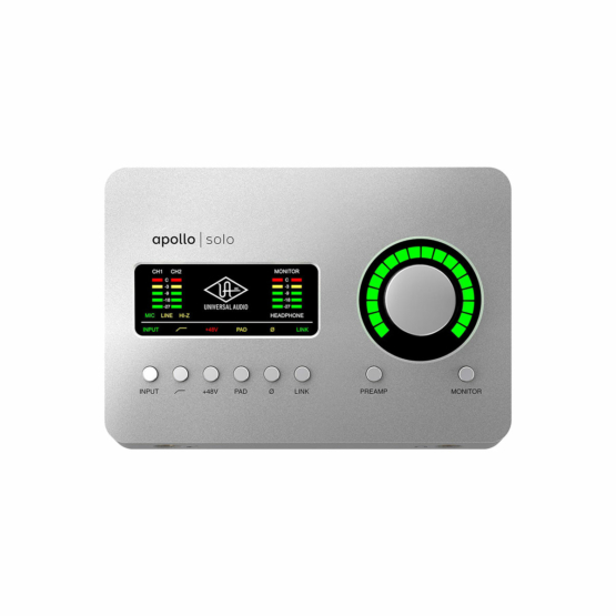 Universal Audio Apollo Solo top view 555x555 Universal Audio Apollo Solo
