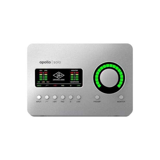 Universal Audio Apollo Solo USB top view 555x555 Universal Audio Apollo Solo USB