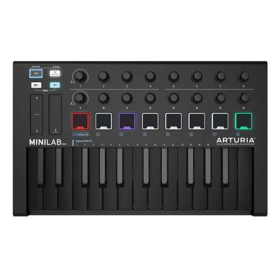 Arturia MiniLab depp black 555x555 Arturia MiniLab MKII Deep Black