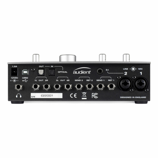 Audient iD22 panel view 555x555 Audient iD22