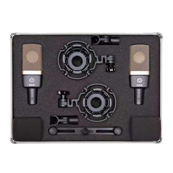 AKG C314 Stereo Set case top 555x555 AKG C314 Stereo Set