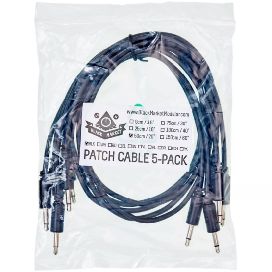 Black Market Modular Patch Cable 5 pack 50cm Grey pack 555x555 Black Market Modular Patch Cable 5 pack 50 cm Grey