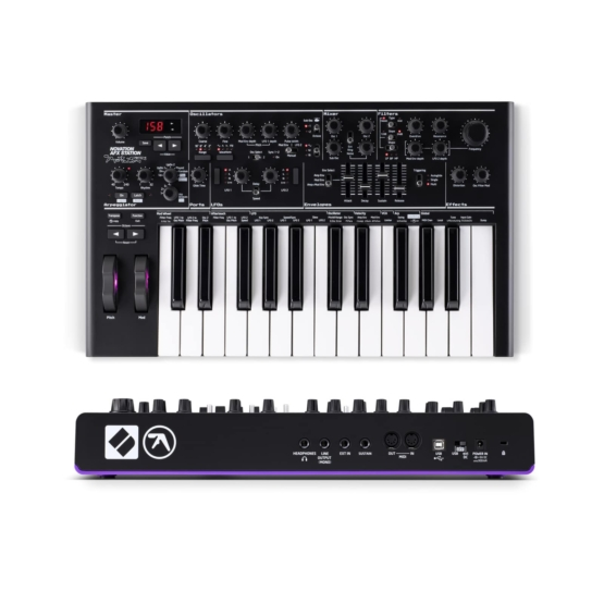 Novation Bass AFX Station II Special Edition top rear panel 555x555 Novation Bass Station II AFX Special Edition