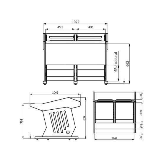 Zaor MAESTRO 24 12 Technical Drawings 555x555 Zaor MAESTRO 24+12 Black LED