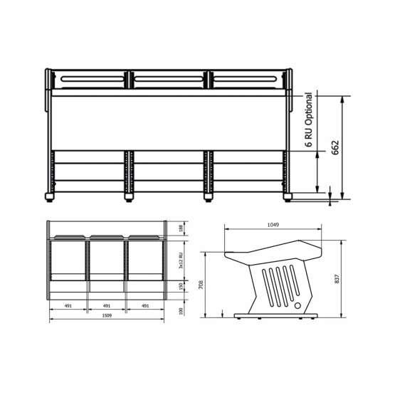 Zaor MAESTRO 36 18 technical drawings 555x555 Zaor MAESTRO 36+18 Black LED