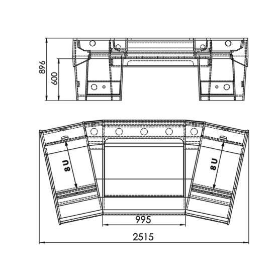 Zaor Matrix Angled Oak technical drawings 555x555 Zaor MATRIX Angled Oak