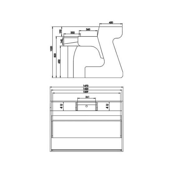 Zaor Miza 88 Technical Drawings 555x555 Zaor MIZA 88 Grey Wengé