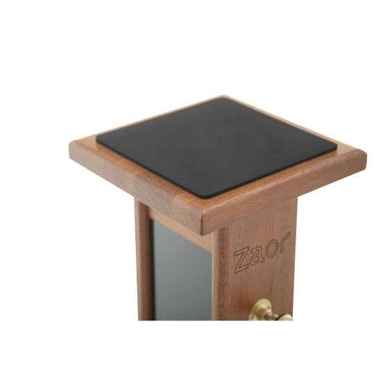 Zaor Monitor Stand Cherry Black plate detail 555x555 Zaor Monitor Stand Cherry/Black