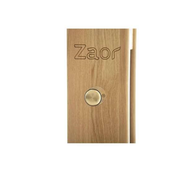 Zaor Monitor Stand Oak Black logo 555x555 Zaor Monitor Stand Oak/Black