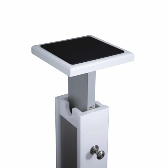 Zaor Monitor Stand White Gloss Grey plate 555x555 Zaor Monitor Stand White Gloss/Grey