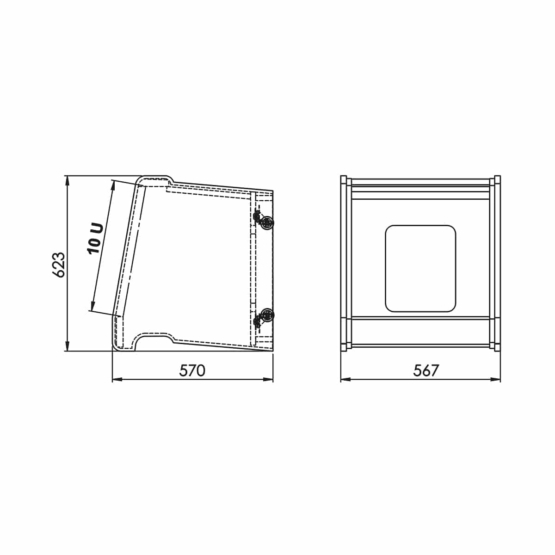 Zaor Rack Roll White Gloss Technical Drawings 555x555 Zaor Rack Roll White Gloss