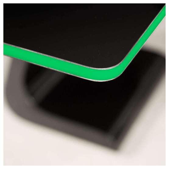 Zaor VELA S Black Gloss Soul green led 555x555 Zaor VELA S 1200 mm Black Gloss Soul