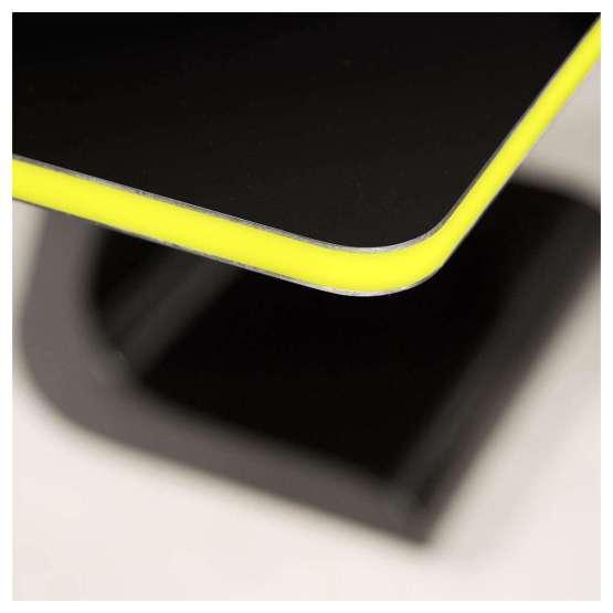 Zaor VELA S Black Gloss Soul yellow led 555x555 Zaor VELA S 1200 mm Black Gloss Soul