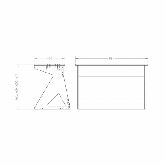 Zaor Vision KS technical drawings 555x555 Zaor VISION KS Black/White