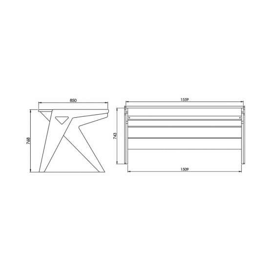 Zaor Vision O technical drawings 555x555 Zaor VISION O Black/White