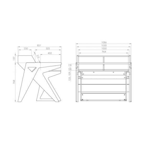 Zaor Vision WS technical drawings 555x555 Zaor Vision WS