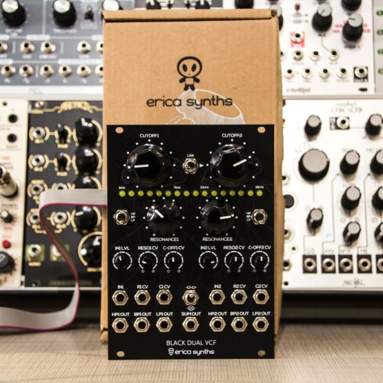 Erica Synths Black Dual VCF usato used front view 555x555 Erica Synths Black Dual VCF (used)