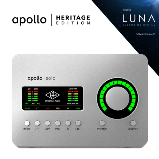 Universal Audio Apollo Solo Heritage Edition 555x555 Universal Audio Apollo Solo | Heritage Edition