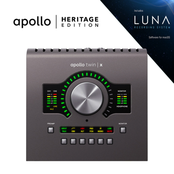 Universal Audio Apollo Twin X QUAD Heritage Edition 555x555 Universal Audio Apollo Twin X Quad | Heritage Edition