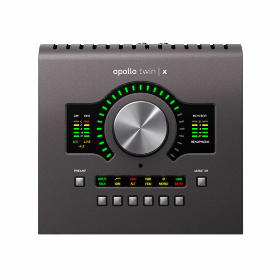 Universal Audio Apollo Twin X QUAD Heritage Edition top view 555x555 Universal Audio Apollo Twin X Quad | Heritage Edition