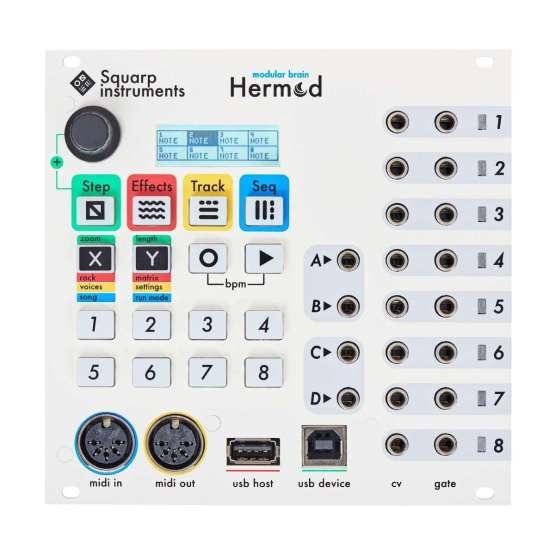 Squarp Instruments Hermod white front 555x555 Squarp Hermod Modular Brain (White)